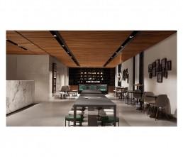 Cafe - interior architecture - table - lema mobili
